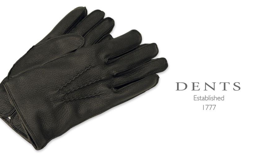 [デンツ社公認販売店]DENTS 手袋 / デンツ手袋 DEERSKIN / ディアスキン ( 鹿革 ) 15-1089 / NAVY