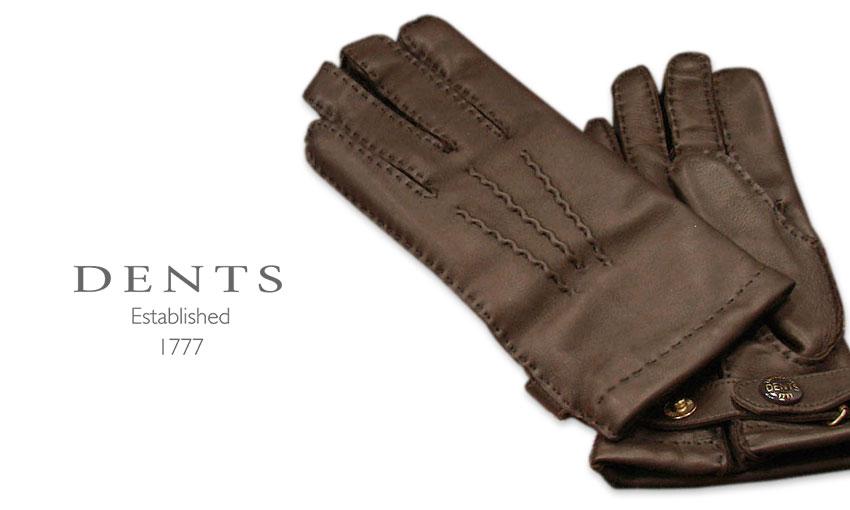 [デンツ社公認販売店]DENTS 手袋 / デンツ手袋 SHEEPSKIN / シープスキン ( 羊革 ) [ BROWN / ダークブラウン ] 15-1529BR