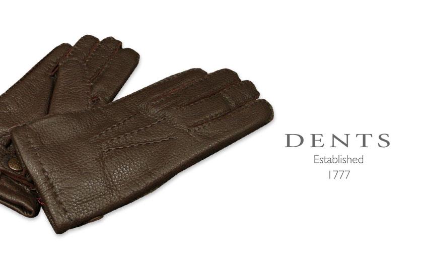 [デンツ社公認販売店]DENTS 手袋 / デンツ手袋 DEERSKIN / ディアスキン ( 鹿革 ) [ BARK / バーク ] 15-1550BA