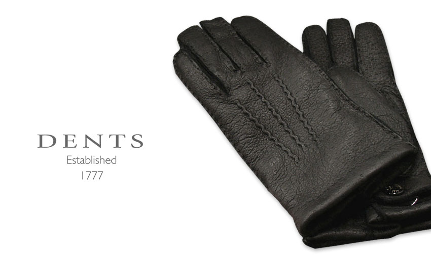[デンツ社公認販売店]DENTS 手袋 / デンツ手袋 PECCARY / ペッカリー ( 猪豚革 ) [ BLACK / ブラック ] 15-1564B