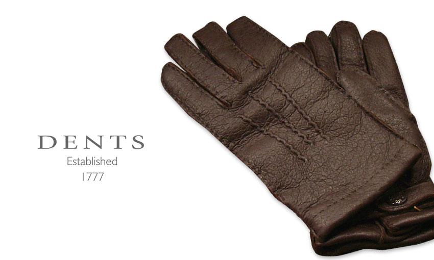 [デンツ社公認販売店]DENTS 手袋 / デンツ手袋 PECCARY / ペッカリー ( 猪豚革 ) [ BARK / ダークブラウン ] 15-1564BA