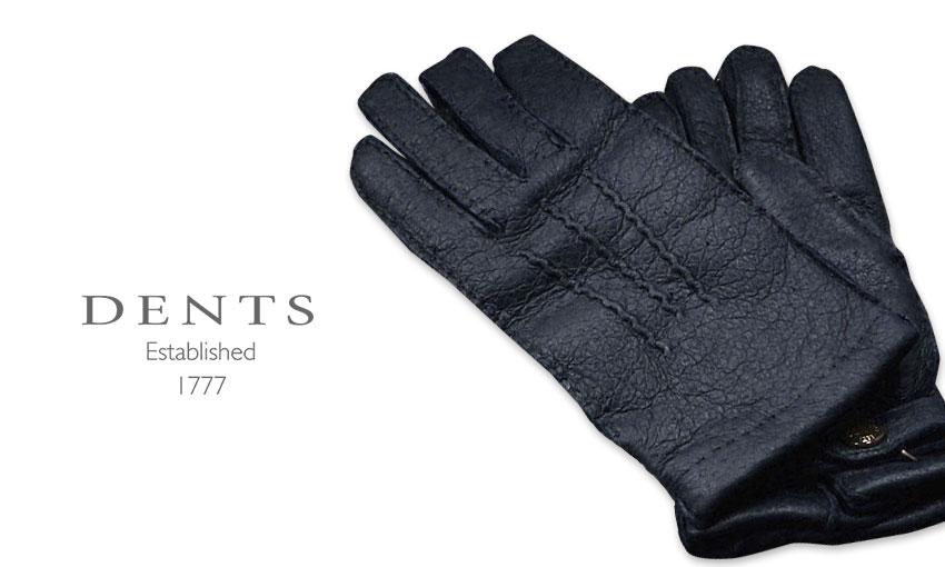 [デンツ社公認販売店]DENTS 手袋 / デンツ手袋 PECCARY / ペッカリー ( 猪豚革 ) [ NAVY / ネイビー ] 15-1564 NAVY