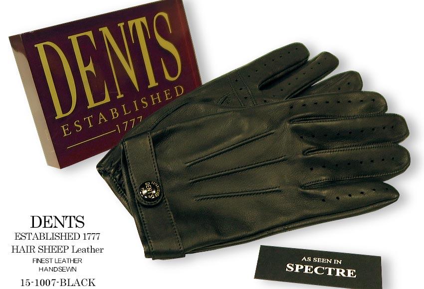 [デンツ社公認販売店]DENTS 手袋 / デンツ手袋 James Bond - SPECTER MODEL HAIR SHEEP / ヘアシープ ( 羊革 ) [ BLACK ] 15-1007 BLACK