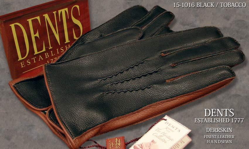 DENTS手袋/ デンツ手袋 デンツ手袋 DEERSKIN/ ディアスキン (/ 鹿革 ) × [ BLACK × TOBACCO ] 15-1016 B/T, 魚食生活:2fce793b --- sunward.msk.ru