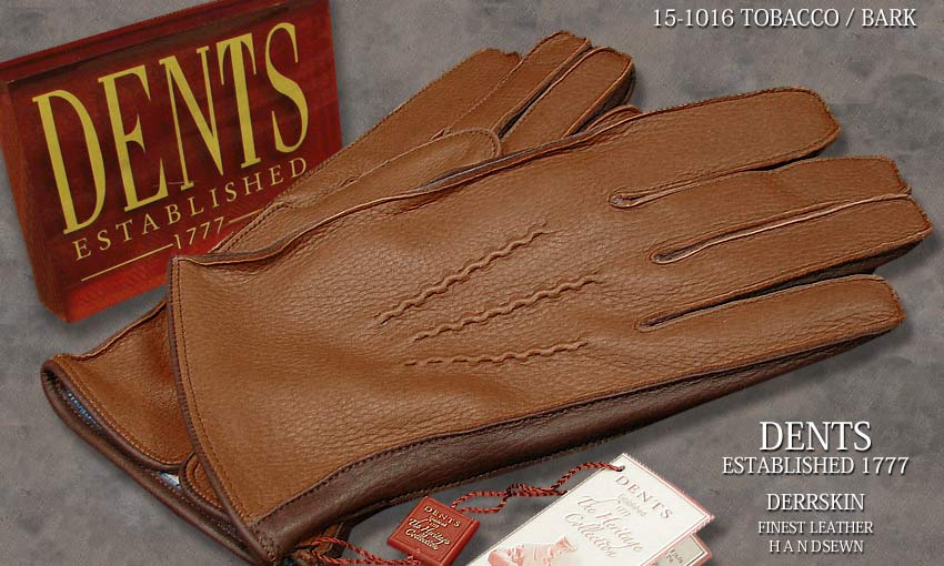 DENTS手袋 / デンツ手袋 DEERSKIN / ディアスキン ( 鹿革 ) [ TOBACCO × BARK ] 15-1016 T/B