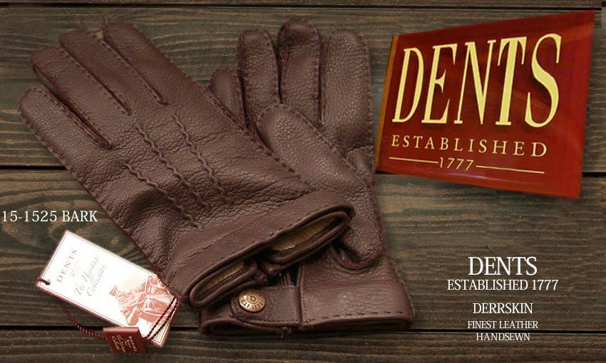 DENTS手袋 / デンツ手袋 DEERSKIN / ディアスキン ( 鹿革 ) [ BARK / バーク ] 15-1525 BA