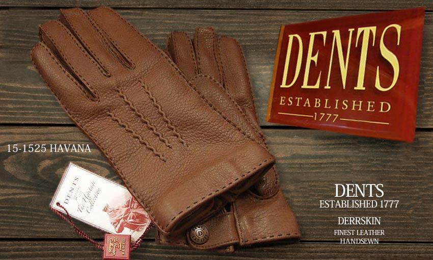DENTS手袋 / デンツ手袋 DEERSKIN / ディアスキン ( 鹿革 ) [ HAVANA / ハバナ ] 15-1525HAVANA