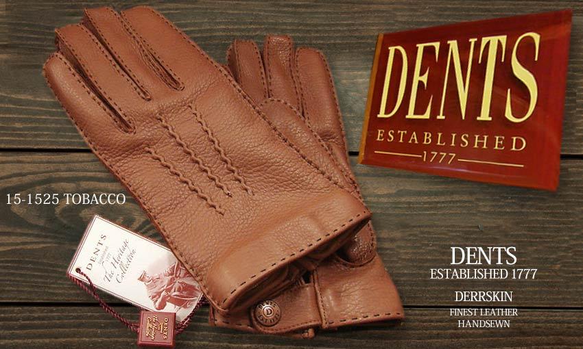 DENTS手袋 / デンツ手袋 DEERSKIN / ディアスキン ( 鹿革 ) [ TOBACCO / タバコ ] 15-1525T