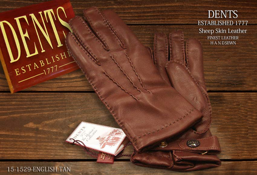 DENTS手袋 / デンツ手袋 SHEEPSKIN / シープスキン ( 羊革 ) [ E-TAN / ブラウン ] 15-1529E-TAN