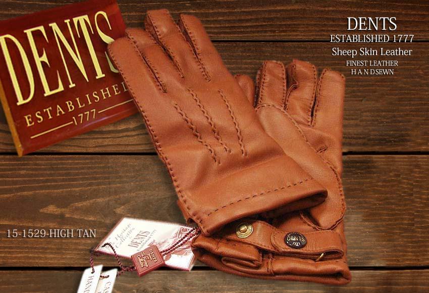 DENTS手袋 / デンツ手袋 SHEEPSKIN / シープスキン ( 羊革 ) [ H-TAN / ブラウン ] 15-1529H-TAN