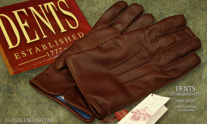 DENTS手袋 / デンツ手袋 HAIR SHEEP / ヘアシープ ( 羊革 ) [ ダークブラウン / E-TAN ] 15-1535 / E-TAN