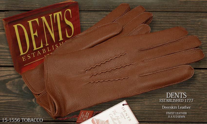 DENTS手袋 / デンツ手袋 DEERSKIN / ディアスキン ( 鹿革 ) 15-1556 / TOBACCO