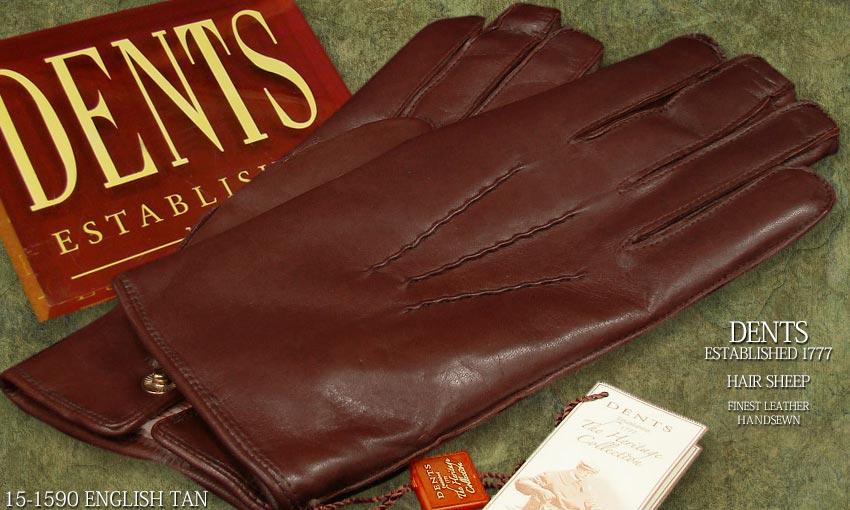 DENTS手袋 / デンツ手袋 HAIR SHEEP / ヘアシープ ( 羊革 ) [ ブラウン / E-TAN ] 15-1590 E-TAN