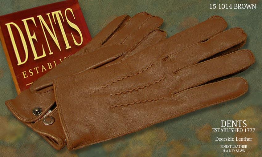 DENTS手袋/ DENTS手袋 デンツ手袋 DEERSKIN/ ディアスキン ] ( 鹿革 ( ) [ BROWN/ ブラウン ] 15-1014BR, eWESTCOAST:1aa33139 --- sunward.msk.ru