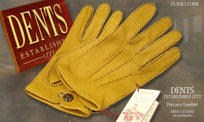 DENTS手袋 / デンツ手袋 PECCARY / ペッカリー ( 猪豚革 ) [ CORK / コルク / コーク ] 15-1043 CORK