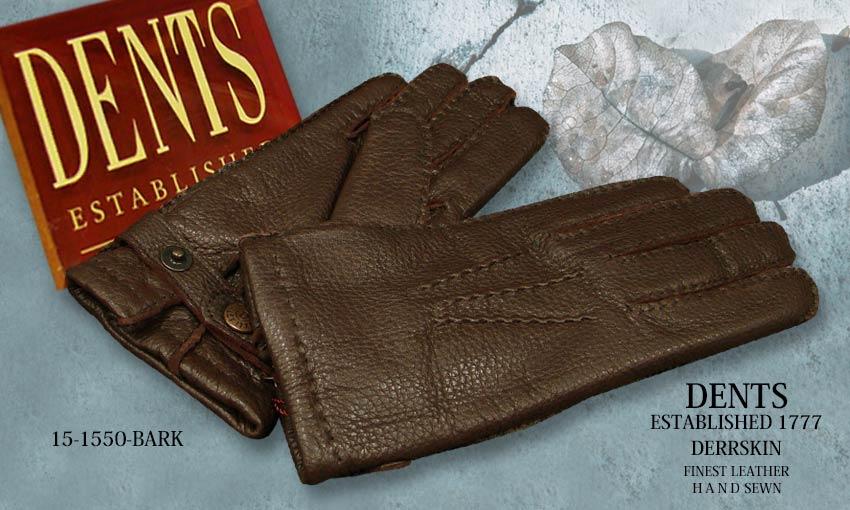 DENTS手袋 / デンツ手袋 DEERSKIN / ディアスキン ( 鹿革 ) [ BARK / バーク ] 15-1550BA