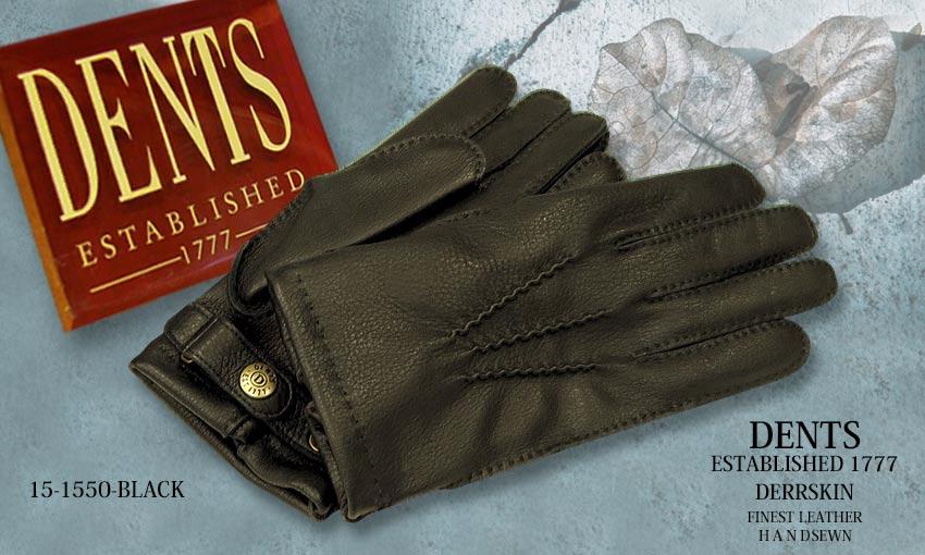 DENTS手袋 / デンツ手袋 DEERSKIN / ディアスキン ( 鹿革 ) [ BLACK / ブラック ] 15-1550 BLACK