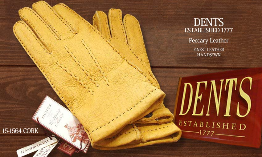 DENTS手袋 / デンツ手袋 PECCARY / ペッカリー ( 猪豚革 ) [ CORK / コルク / コーク ] 15-1564C