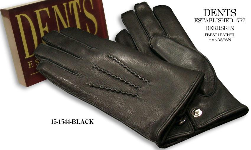[デンツ社公認販売店]DENTS 手袋 / デンツ手袋 DEERSKIN / ディアスキン ( 鹿革 ) [ BLACK / ブラック ] 15-1544B