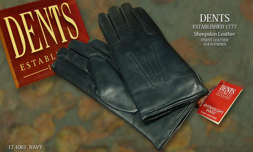DENTS手袋 / デンツ手袋 ( 婦人物 ) SHEEPSKIN / シープスキン ( 羊革 ) [ ネイビー ] 17-1061NAVY