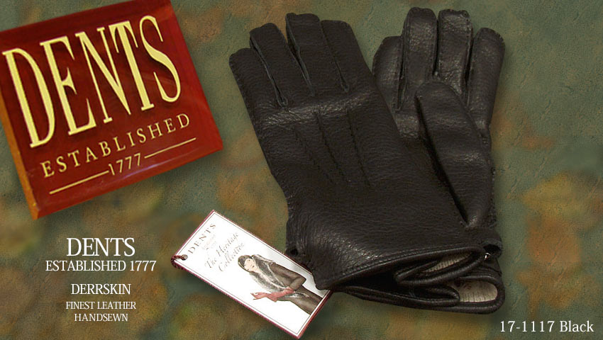 DENTS手袋 / デンツ手袋 ( 婦人物 ) DEERSKIN / ディアスキン ( 鹿革 ) [ ブラック / BLACK ] 17-1117B