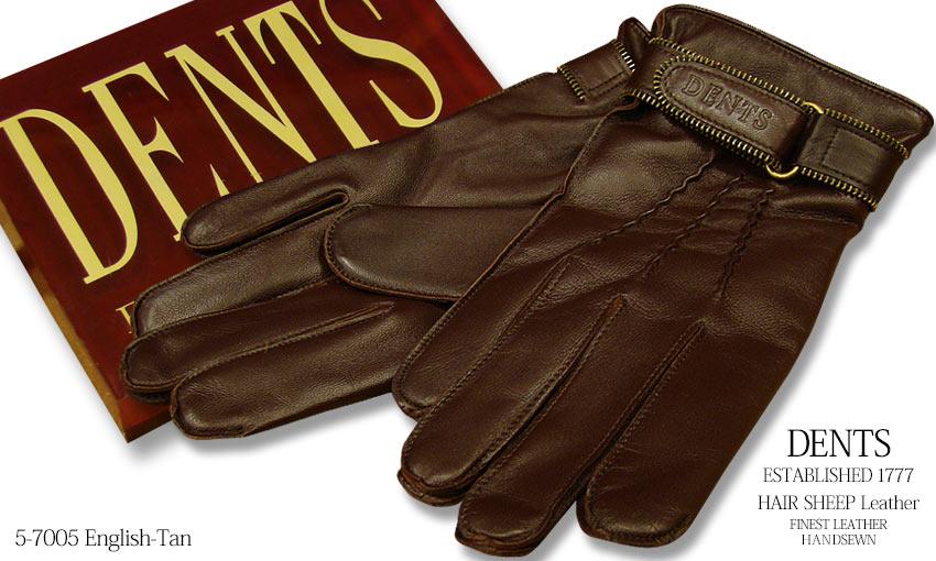 DENTS手袋 / デンツ手袋 HAIR SHEEP / ヘアシープ ( 羊革 ) [ ダークブラウン ] 5-7005E-TAN