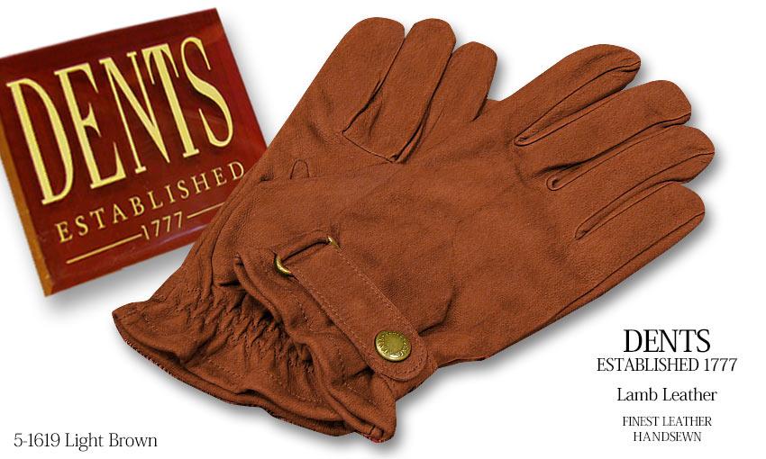 DENTS手袋 / デンツ手袋 LAMB LEATHER / ラムレザー ( 羊革 ) [ ライトブラウン ] 5-1619CO