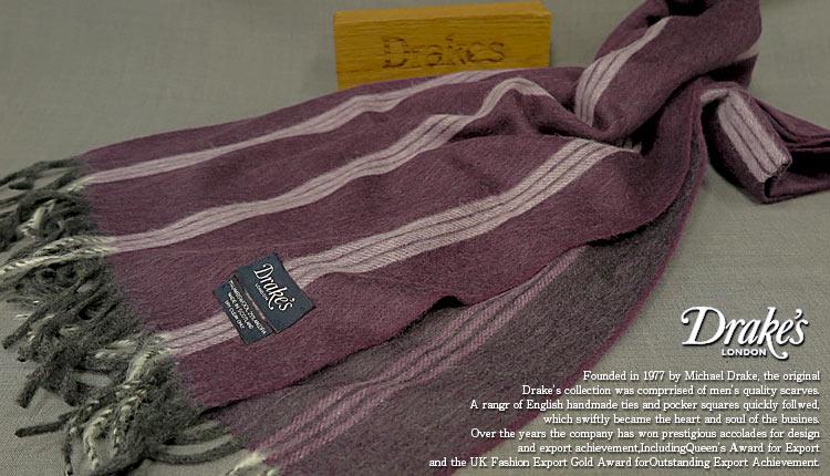 DRAKE'S 15101.008 ドレイクス (/ ドレイクス マフラー ( パープル系ストライプ ) 15101.008, セレクトショップ SIG:b305a29d --- sunward.msk.ru