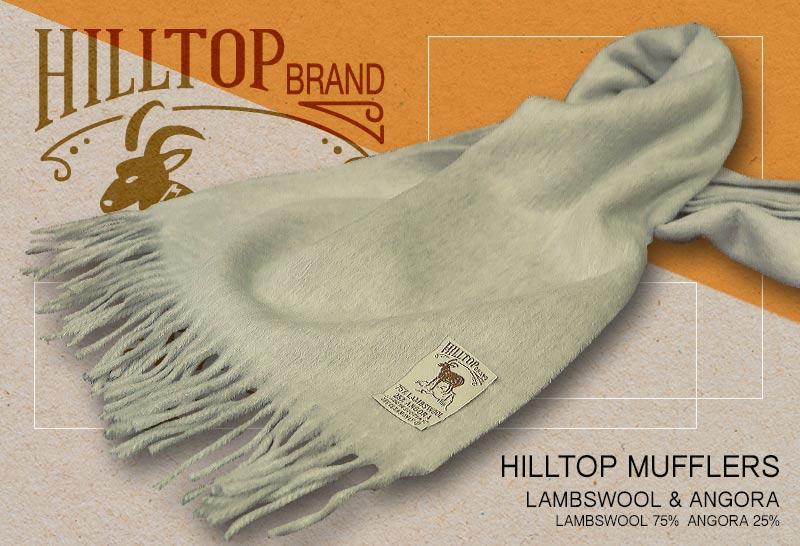 HILLTOP / ヒルトップ マフラー LAMBSWOOL & ANGORA MUFFLERS ( SILVER / シルバーグレー系無地 )