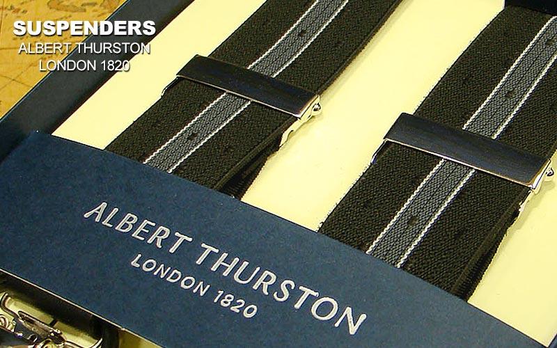 [ ) ALBERT THURSTON/ アルバートサーストン [ ] サスペンダー ( サスペンダー 黒織地/四角小紋/オフ白×グレーライン ) ALS-07 ( アルバート・サーストン/メンズ )【あす楽対応】, カンザキグン:149490b2 --- sunward.msk.ru