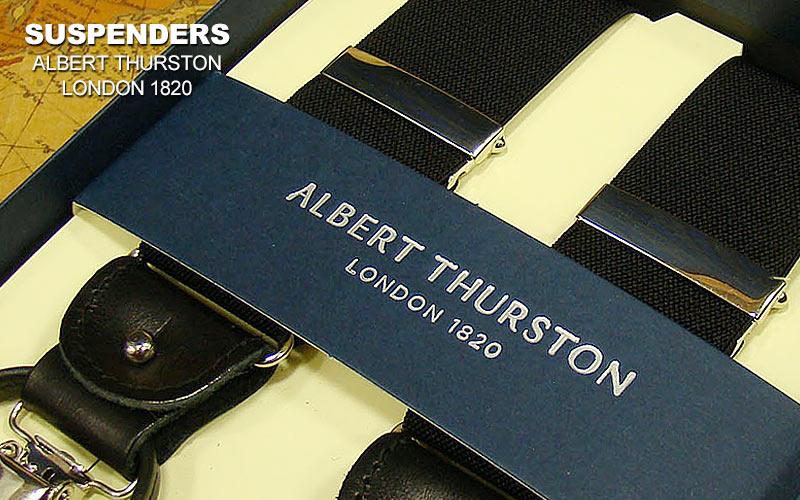 【 ALBERT THURSTON 】 アルバートサーストン・サスペンダー ( 黒無地 ) [ ALM-01 ] 【あす楽対応】 ( アルバート・サーストン/メンズ )