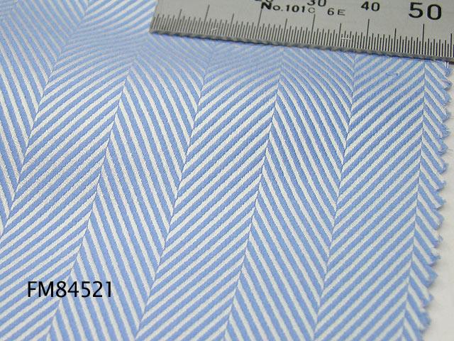 オリジナルオーダーシャツ●FM84521ブルー系ヘリンボーン柄 100番手双糸 100%cotton