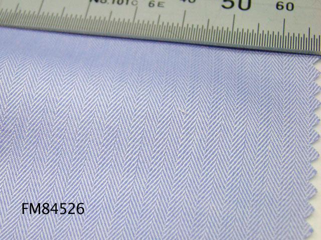 オリジナルオーダーシャツ●FM84526ブルー地ミニヘリンボーン柄 100番手双糸 100%cotton