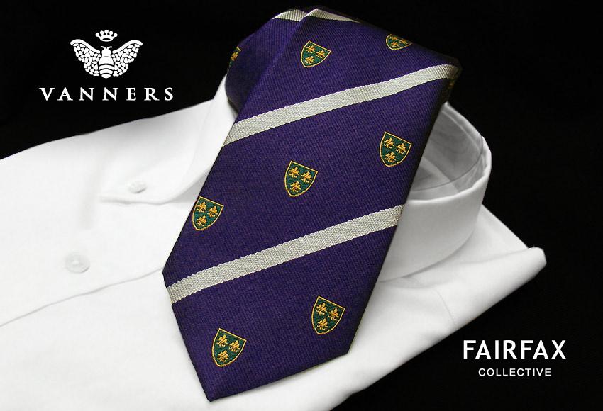 【 FAIRFAX / フェアファクス 】Vanners /バーナーズ(ヴァーナーズ) (ロイヤルクレストタイ ) ( VAR-12 ) 【送料無料】【あす楽対応】FAIRFAX(フェアファクス)ネクタイ【送料込】