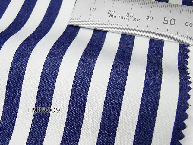 オリジナルオーダーシャツ●FM89009【ThomasMason】ネイビーロンドンストライプ 120番双糸×70番単糸100%cotton