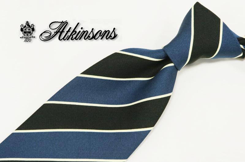 英国プレステージ【ATKINSONS/リチャード・アトキンソン/ストライプ レジメンタルネクタイ】 ( 3099-1 ) 【あす楽対応】