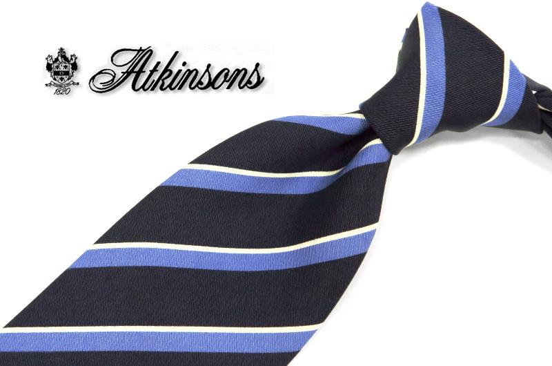英国プレステージ【ATKINSONS/リチャード・アトキンソン/ストライプ レジメンタルネクタイ】 ( 3103-1 ) 【あす楽対応】