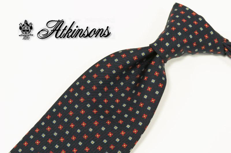 英国プレステージ【ATKINSONS/リチャード・アトキンソン/小紋 ネクタイ】 ( 910-20 ) 【あす楽対応】