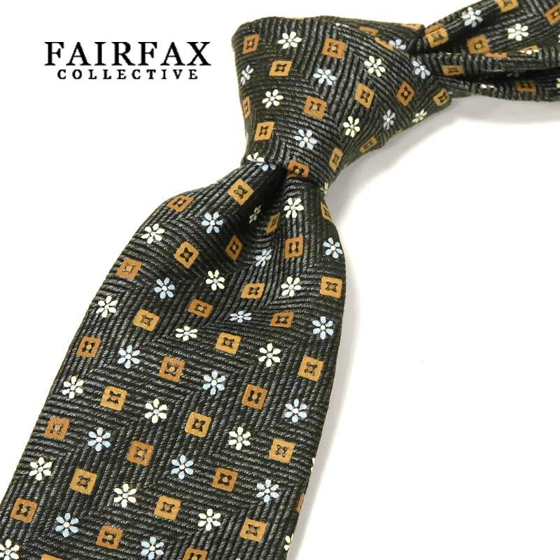 【 FAIRFAX / フェアファクス 】 顔料染めプリント小紋柄 ネクタイ ( FAK-598 ) 【あす楽対応】【送料込】