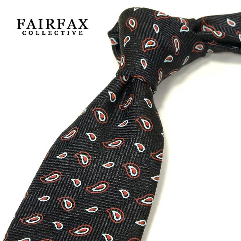 【 FAIRFAX / フェアファクス 】 顔料染めプリント ペイズリー小紋柄 ネクタイ ( FAK-602 ) 【あす楽対応】【送料込】