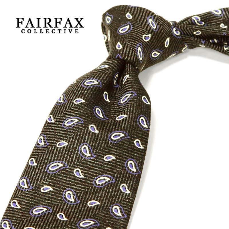 【 FAIRFAX / フェアファクス 】 顔料染めプリント ペイズリー小紋柄 ネクタイ ( FAK-604 ) 【あす楽対応】【送料込】