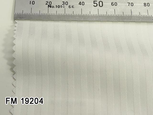 オリジナルオーダーシャツ●FM19204白地 ドビー織りストライプ柄 100双糸 100%cotton
