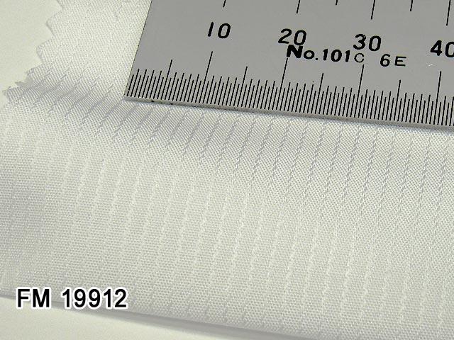 オリジナルオーダーシャツ [ディフュージョンライン]●FM19912ホワイトドビーストライプ 50番単糸 Wrinkle Free / リンクルフリー 形態安定生地 100%cotton