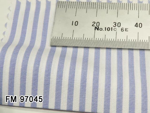 オリジナルオーダーシャツ [ディフュージョンライン]●FM97045サックスブルー系ストライプ  50番単糸 100%cotton