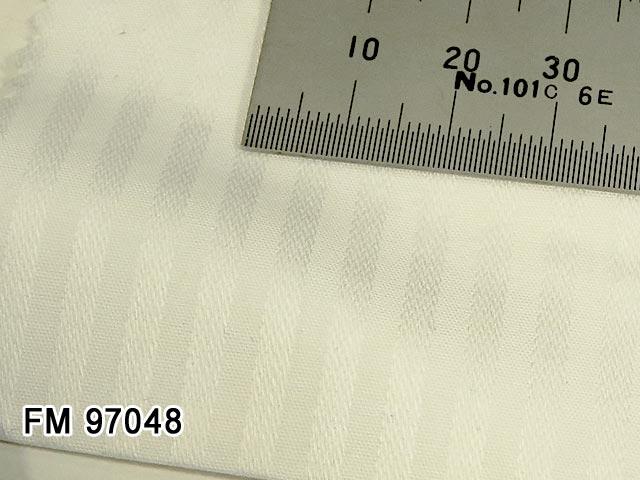 オリジナルオーダーシャツ [ディフュージョンライン]●FM97048ホワイトドビーストライプ 40番単糸 100%cotton