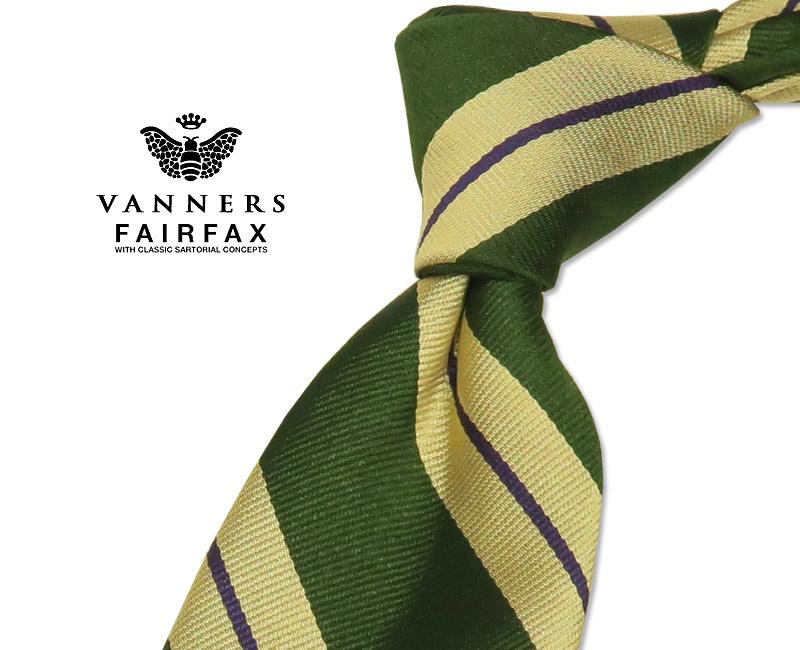 【 FAIRFAX / フェアファクス 】Vanners /バーナーズ(ヴァーナーズ) ( ストライプタイ ) ( レジメンタルネクタイ ) ( VAS-108 ) 【送料無料】【あす楽対応】FAIRFAX(フェアファクス)ネクタイ【送料込】