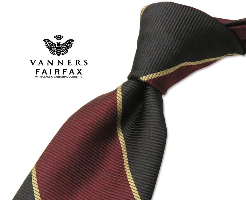 【 FAIRFAX / フェアファクス 】Vanners /バーナーズ(ヴァーナーズ) ( ストライプタイ ) ( レジメンタルネクタイ ) ( VAS-132 ) 【送料無料】【あす楽対応】FAIRFAX(フェアファクス)ネクタイ【送料込】