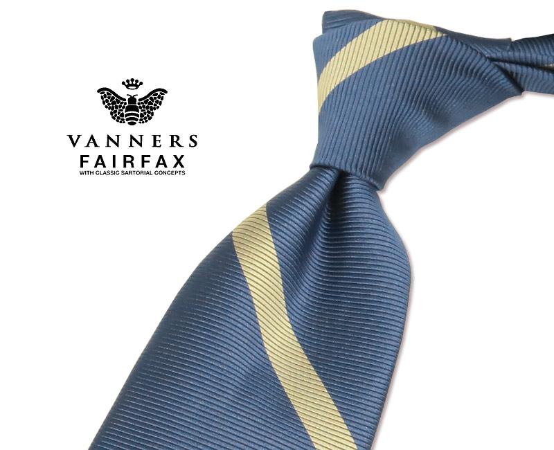 【 FAIRFAX / フェアファクス 】Vanners /バーナーズ(ヴァーナーズ) ( ストライプタイ ) ( レジメンタルネクタイ ) ( VAS-69 ) 【送料無料】【あす楽対応】FAIRFAX(フェアファクス)ネクタイ【送料込】