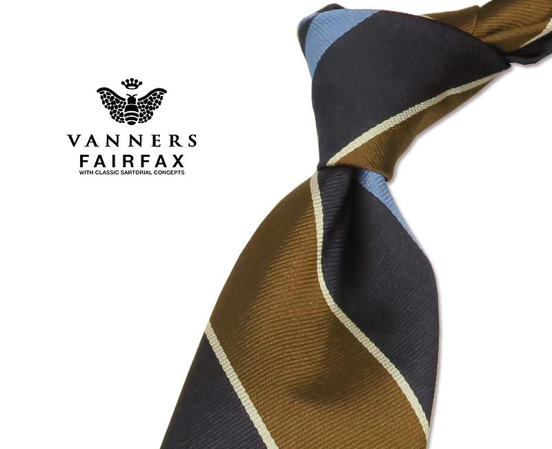【 FAIRFAX / フェアファクス 】Vanners /バーナーズ(ヴァーナーズ) ( ストライプタイ ) ( レジメンタルネクタイ ) ( VAS-80 ) 【送料無料】【あす楽対応】FAIRFAX(フェアファクス)ネクタイ【送料込】