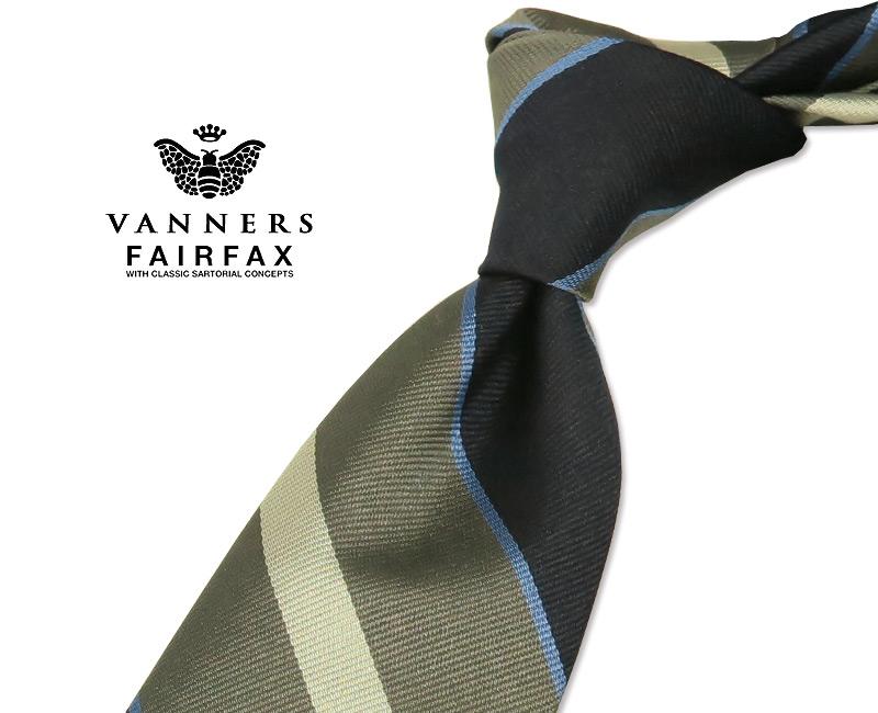 【 FAIRFAX / フェアファクス 】Vanners /バーナーズ(ヴァーナーズ) ( ストライプタイ ) ( レジメンタルネクタイ ) ( VAS-82 ) 【送料無料】【あす楽対応】FAIRFAX(フェアファクス)ネクタイ【送料込】